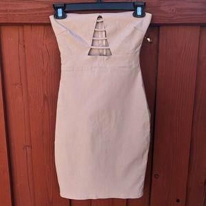 Vintage Charlotte Russe XS strapless dress Bodycon